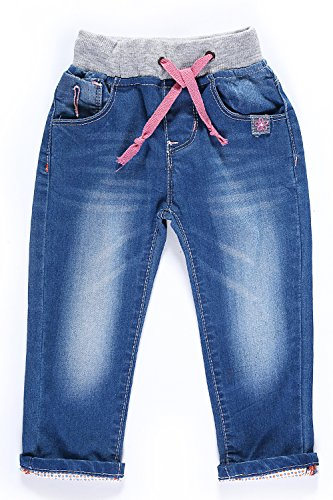 LITTLE-GUEST Baby Girls' Jeans Toddler Baby Clothes Denim Pants G115 (18-24 Months, Light -