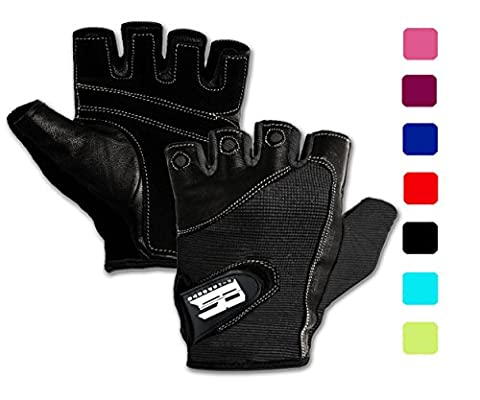 Weight Lifting Gloves For Gym-Gym Gloves w/ Washable Ideal Rowing Gloves, Workout Gloves, Training Gloves,Support & Grip Gloves,Premium Gloves For Lifting Weights Black (In Door Bike Stand)