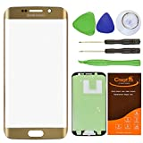 CrazyFire Gold Front Outer Lens Glass Screen Replacement For Samsung Galaxy ...