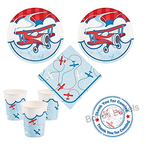 vintage airplane party favors - 1