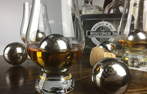 Whiskey & Axe - Premium Set of 6 Stainless Steel Ice Spheres - Chills Better than Whisky Stones - WhiskeySphere Tin by Whiskey & Axe (Image #2)