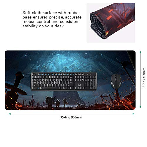 Large Extended Gaming Mouse Pad Computer Mat World of Warcraft Illidan 90 x 40cm