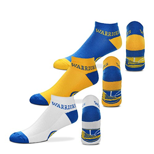 For Bare FeetMoney No-Show Ankle Socks 3 Pack - Golden State Warriors
