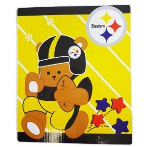 - NFL Pittsburgh Steelers Raschel Blanket 40in x 50in - Baby Blanket