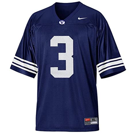 size 40 b452a d8c93 Amazon.com : Nike BYU Cougars Brigham Young Jersey Youth L ...