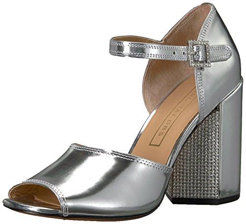 Marc Jacobs Women's Kasia Strass Sandal Heeled, Silver, 39 M EU (9 US)