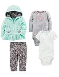 Simple Joys by Carter's Girls' 4-Piece Fleece Jacket Set