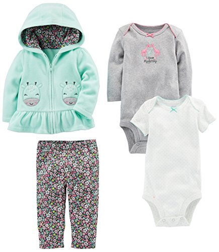 Flower Girl Clothes (Simple Joys by Carter's Baby Girls 4-Piece Little Jacket Set, Mint Floral, 24)