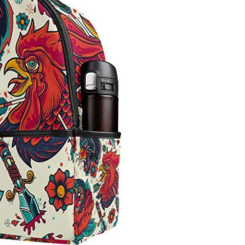 Talla Poliéster Mujer Única Para Pinllg De Mochila Multicolor Bolso fqwnTHg