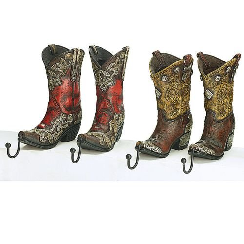 Burton Set of 4 Western Cowboy Boot Christmas Stocking Ho...