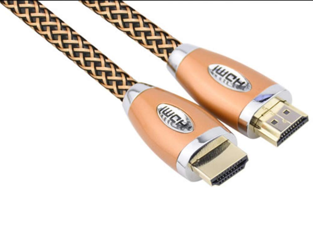 Premium 4k UHD HDMI cable - 10ft Metallic Gold HDMI 2.0 heavy duty - (4k @ 60hz 18 Gbps) 24k gold connectors - 2160p 3D -compatible with xbox one x/blueray/ps4/pc/plasma/laptop/smart tv/roku/projector