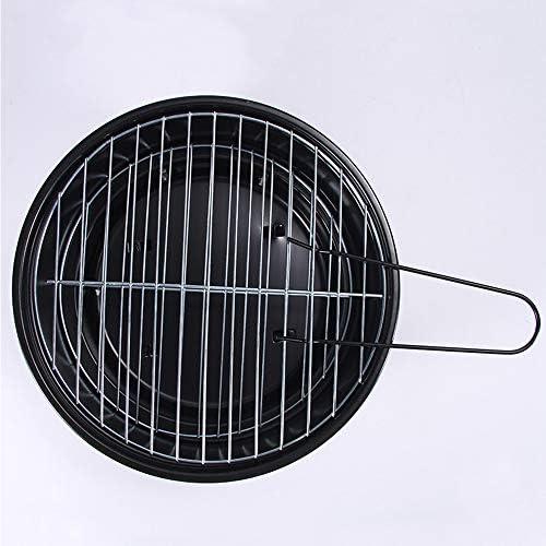 Vlook Grillades au Charbon Rondes 2pcs, grillades Pliantes Portables, faciles à Nettoyer, faciles à Nettoyer, pour 3-5 Personnes Barbecue, Pique-Nique, Camping