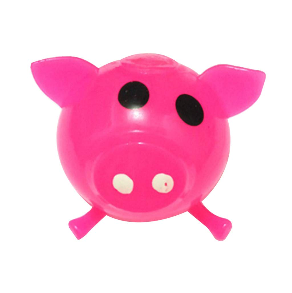 Pet1997 Decompression Puzzle Plaything, 1Pcs Jello Venting Pig Dolls, Cute Anti Stress Splat Water Pig Ball, Vent Toy Venting Sticky - Blue, Orange, Pink, Green, Purple (Pink)