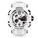 SMAEL Men's Sport Analog Digital Watch Water Resistant Military Time with Backlight Watches for Men