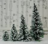 "Meyer Imports Snowy Evergreen Tree - 1"" - Set of 5 - 218-0401 - Decorated, Mounted, Painted or Glittered!"