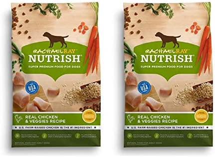Rachael Ray Nutrish Natural Dry Dog Food 2 Pack, Natural – Real Chicken Veggies