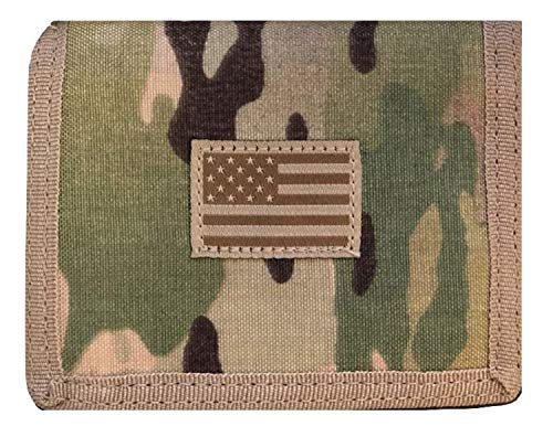 USA US American Flag Tactical Patriotic Military Trifold Wallet Money Holder (Woodland -