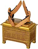 Religious Gift Trinket Box - The Ark of the Covenant Jewelry Box: Medium - Egyptian Statues
