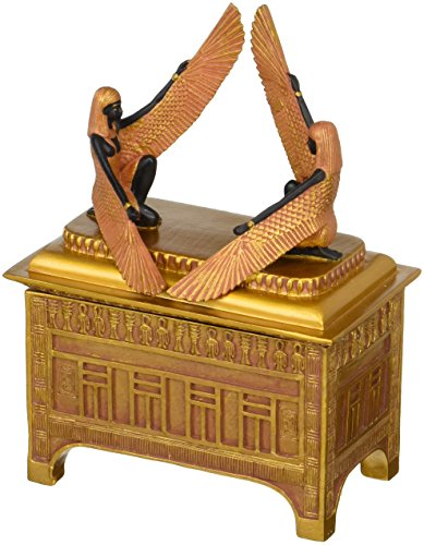 - Religious Gift Trinket Box - The Ark of The Covenant Jewelry Box: Medium - Egyptian Statues