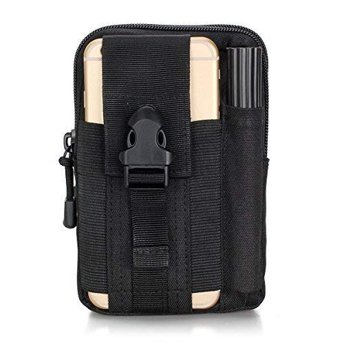 Multifunctional Outdoor Tactical Backpack Waterproof Portable Military Hip Waist Belt Bag iPhone Pouch for iPhone 7 6s Samsung Galaxy S7 Easy to Carry Practical Small Kit (Black)