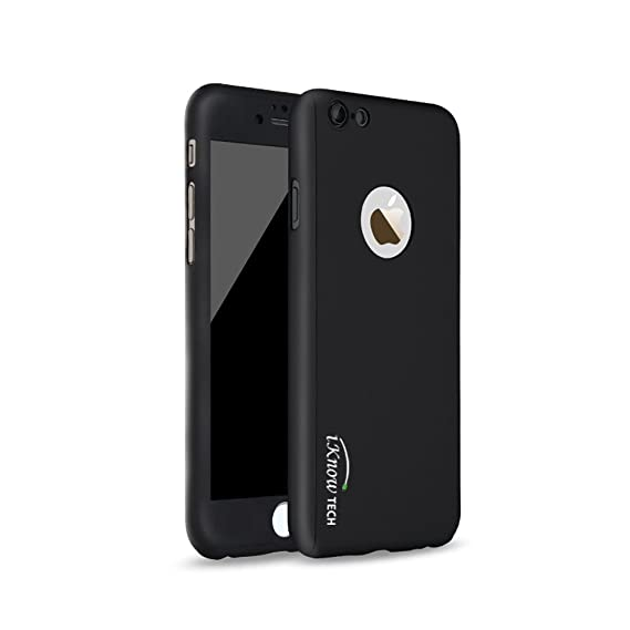 f2fc32a2ef0 Image Unavailable. Image not available for. Color: iKNOWTECH® Luxury Full  Body Protect Hard Slim Case Cover With Tempered Glass For iPhone 6
