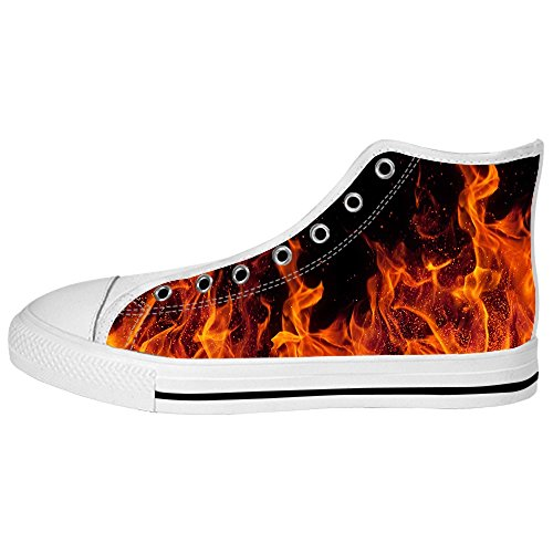Dalliy feuer feuer Womens Canvas shoes Schuhe Lace-up High-top Footwear Sneakers A