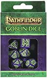 Q Workshop Pathfinder Goblin Dice Set (7) Board Games, Purple with Green