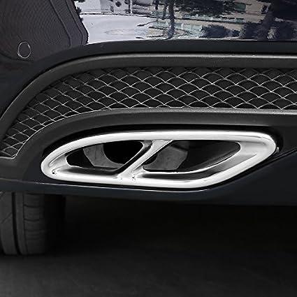 Cuasting Auspuff Blenden f/ür W213 W205 Coupe W246 W216 GLC GLE GLS CLA 15-19 Schwarz