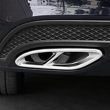 2 x Tubo de escape de acero para embellecedores W213 W205 W246 C292 a B C E GLE GLS M2 clase car-styling: Amazon.es: Coche y moto