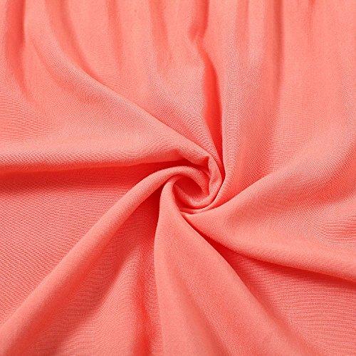 pissure Blouse Col Unie Manches Orange T et Printemps Couleur Tees Femmes 4 V Automne Shirts Hauts Dentelle Casual Chemisiers 3 Tops 6anqxPI
