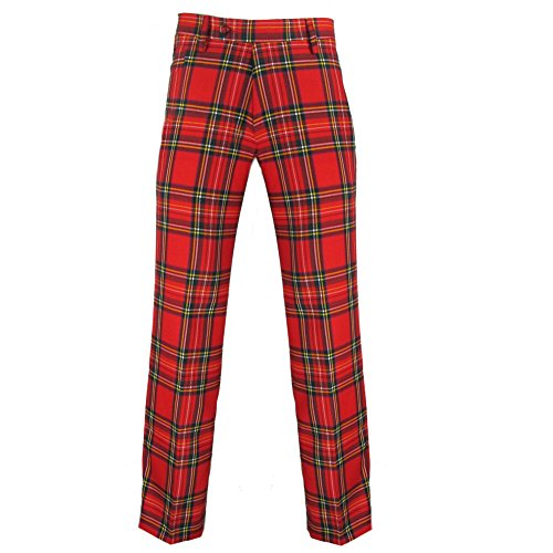 Murray Scottish Golf Trousers By Broad Sword In Royal Stewart Red Tartan 34 (Tartan Pants compare prices)