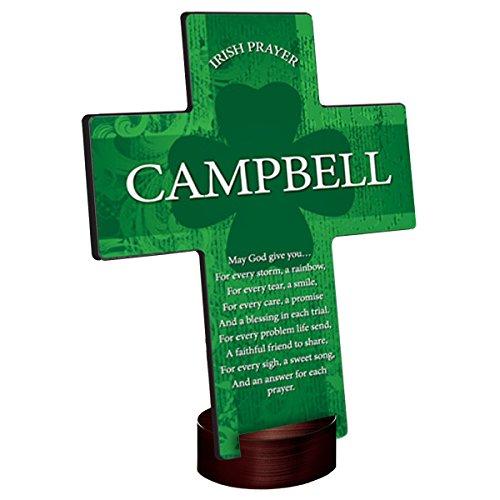 Personalized Irish Blessing Shamrock Cross - Irish Prayer
