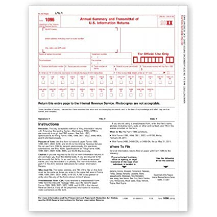 Amazon Laser Irs Tax Form 1096 Office Products