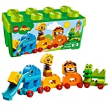 lego duplo classic - LEGO DUPLO My First Animal Brick Box 10863 Building Blocks (34 Piece)