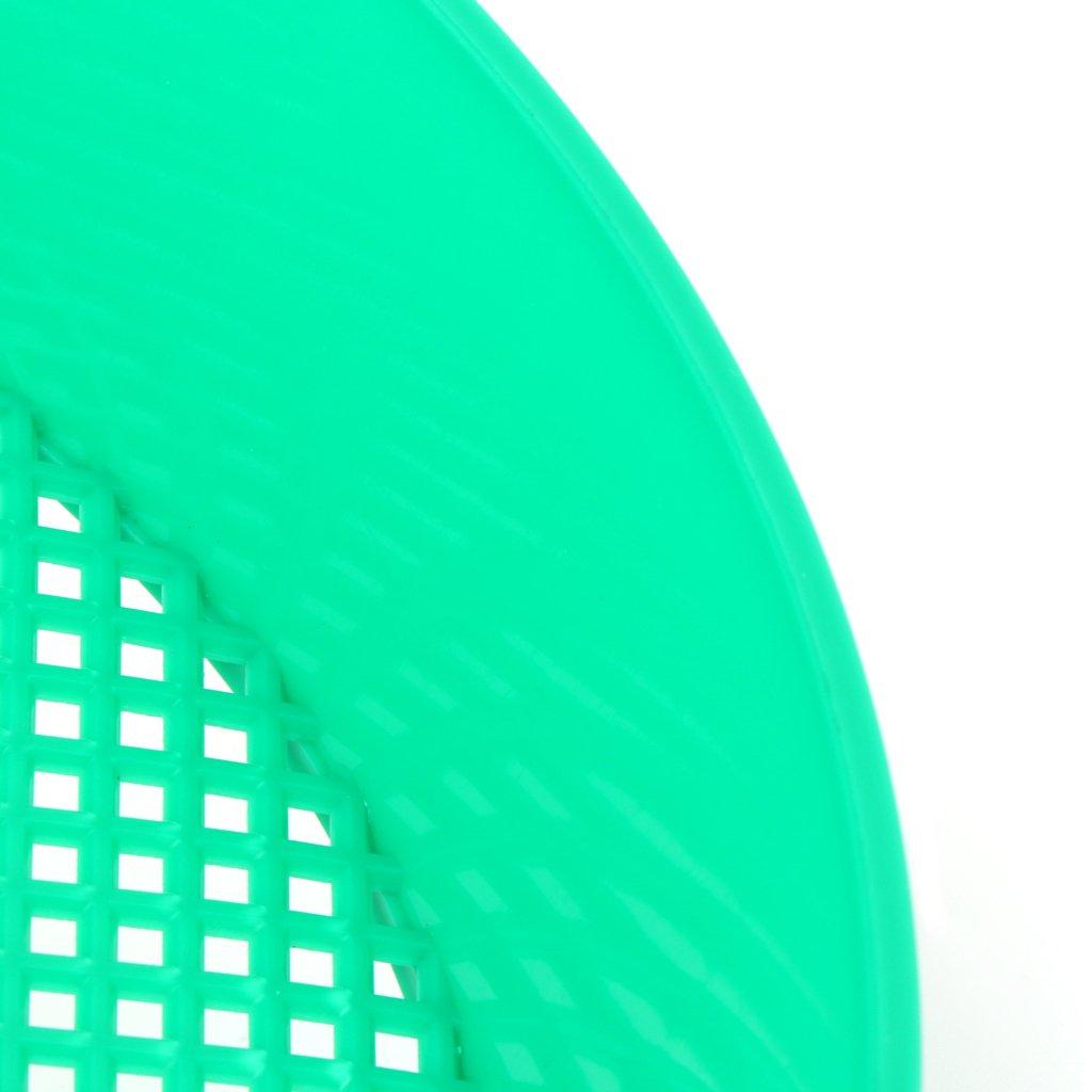 Cuigu Devin de Tamis en Plastique de Jardin Vert pour loutil de Jardinage de Maille en Pierre de Sol de Compost