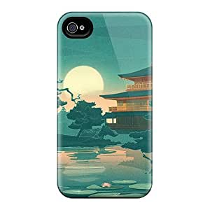 For Iphone 4/4s Protector Case Japanese Art Phone Cover