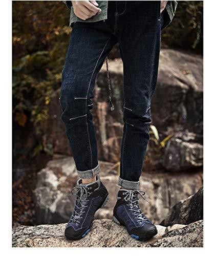 Adong Mens Botas El Senderismo Invierno C Escalada Ascenso Y Toda Ligeros Trekking La Impermeable a Selva Temporada Para Otoño Alto Zapatos De 43eu SSXr4dxq