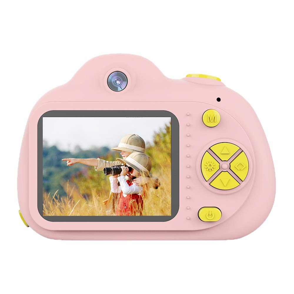 Tueker Kids Camera Toys Gifts for 4~8 Years Old Girls, Shockproof Kids Video Camera & Camcorder with Soft Silicone Shell for Outdoor Play, Pink by Tueker (Image #3)