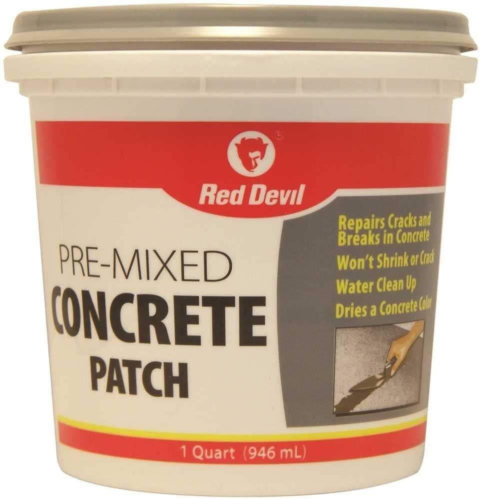 RED DEVIL, INC. 644 0644 Red devil Pre-Mixed Concrete Patch, 1 Qt, Tub, Textured gray, Mild Acrylic, Paste, 1 quart