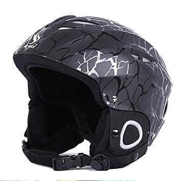 asdomo adultos casco de esquí y snowboard nieve deportes resistente al viento ligero casco Safty de