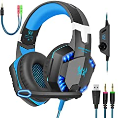 Our ENVEL G2000 gaming headset is the Professional PC Gaming Headset that focuses on what you needs: balanced sound for all your gaming and music needs with a lightweight comfortable design and immersive sound quality.Package Content: 1 * G20...