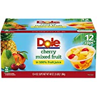 Dole Fruit Bowls, Cherry Mixed Fruit in 100% Fruit Juice, 4 Ounce, 12 Count