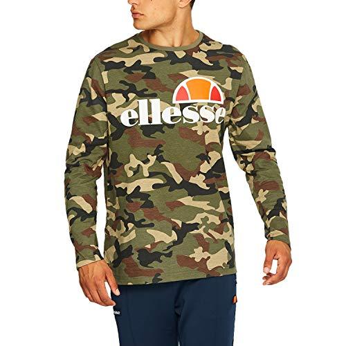 ellesse Men Long-Sleeve T-Shirt Grazie, Size:L, Color:camo