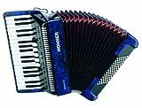 Hohner Bravo Piano Accordion, 72 Bass, Blue