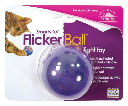 SmartyKat FlickerBall Electronic Cat Toy, My Pet Supplies