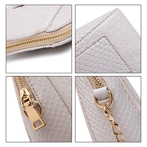 Case Phone Shoulder Purple Purse Crossbody Portable Handbag Beige Cell Pouch Bag Wallet JAGENIE Coin RAPWY