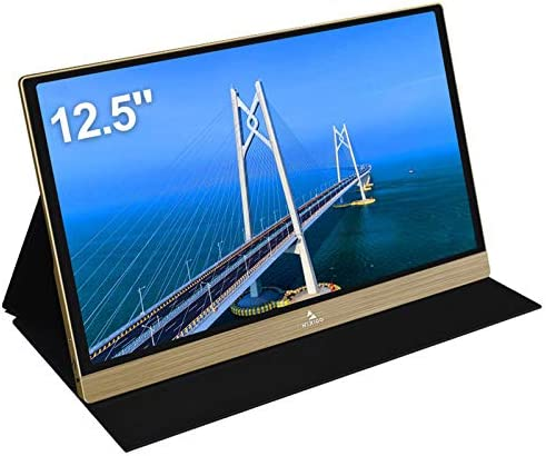 2021 [Upgraded] Portable Monitor - NexiGo 12.5 Inch Full HD 1080P IPS Computer Display, Stereo Speakers, USB Type-C HDMI Port for PC/PS4/Xbox/Switch, Included Smart Cover, Gold