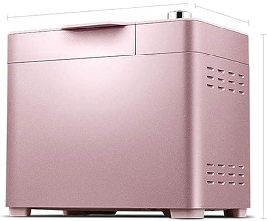 Opinión sobre FUDIV Máquina para Hacer Pan Casera 30 Ajustes De Menú Máquina para Hacer Pan Programable Multipropósito Adecuado para Principiantes para Usar Pantalla LCD Grande 800W, Rosa