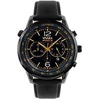 Relógio Vivara Masculino Couro Preto - DS13700R0E-2