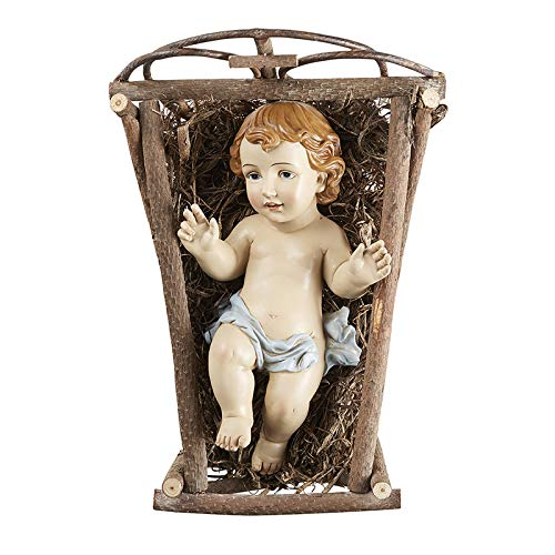 Christmas Collection Infant Baby Jesus with Manger 12 Inch Figurine